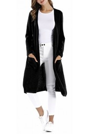 Sarin Mathews Womens Open Front Long Sleeve Knit Sweater Long Cardigans with Pockets - Il mio sguardo - $29.99  ~ 25.76€