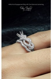 Semi Mount Engagement Ring, Infinity Kno - My photos -