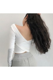 Sexy Cross Open Back Long Sleeve High Wa - My look - $25.99  ~ £19.75