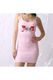 Sexy Pink Striped Demon Embroidered Slin - Moj look - $25.99  ~ 165,10kn