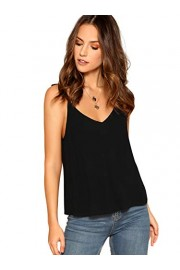 SheIn Women's Casual Strappy V Neck Camisole Sleeveless Cami Tank Top Blouse - My look - $5.99
