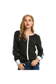 Sherosa Women's Cut Out Shirts Long Sleeve Blouse Tops - My look - $17.99
