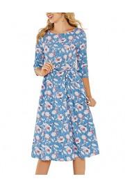 Simple Flavor Women's Half Sleeve Vintage Midi Dress Floral Aline Dress with Pockets - O meu olhar - $25.59  ~ 21.98€