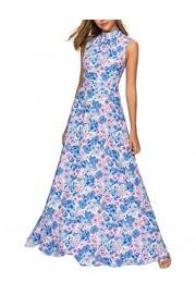 Simple Flavor Women's Sleeveless Floral Maxi Dress Elegant Evening Long Dress - O meu olhar - $23.99  ~ 20.60€