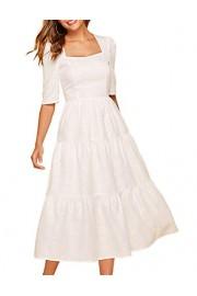 Simple Flavor Women's Vintage Evening Dress Mid-Calf Elegant Patchwork Dress - O meu olhar - $29.99  ~ 25.76€
