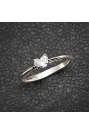 Solitaire Engagement Ring, Heart Diamond - My photos -