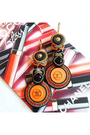 Soutache earrings made of authentic butt - My look -
