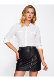 Stand Collar Basic Shirt - My look - $13.00