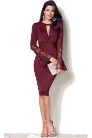 Statement sleeve dress (Venus) - My look - $36.99