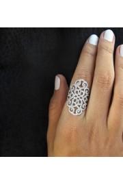 Statement Diamond Ring, Wide Lace Diamon - My photos -
