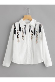 Stereo Embroidery Shirt - My look - $14.00