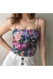 Stylish retro camisole in print - Moj look - $27.99  ~ 177,81kn