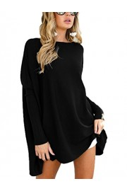 Suimiki Women's Batwing Long Sleeve Casual Oversized Pullover Loose T Shirt Top - My look - $13.99