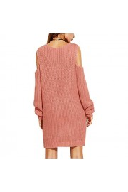 Suimiki Women's Cold Shoulder Hollow-Out Pullover Sweater Dress - My look - $23.98