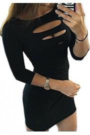 Suimiki Women's Sexy Cut Out Clubwear Skirt Bodycon Nightclub Dress - My look - $13.98