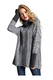 SweatyRocks Women's Loose Knitted Turtleneck Long Sleeve Pullover Sweater Jumper - My look - $21.99