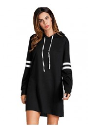SweatyRocks Women's Striped Long Sleeve Casual Pullover Hoodie Sweatshirt Dress - Mi look - $12.89  ~ 11.07€