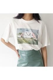Trendy Square Print Round Neck Straight - My时装实拍 - $25.99  ~ ¥174.14