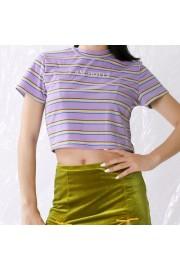 Trendy Striped Letter Print Loose Short - Моя внешность - $17.99  ~ 15.45€