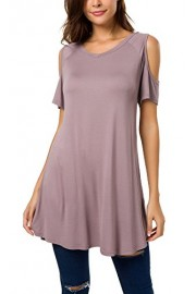 Urban CoCo Womens Off Shoulder Short Sleeve Casual T-Shirt Dress - My look - $14.86