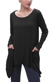 Urban CoCo Women's Plus Size Swing Pocket Tunic Tops Loose Tee Shirts - My look - $9.85