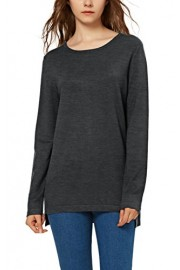 Urban CoCo Women's Solid Pullover Sweater Side Slit - My look - $19.86