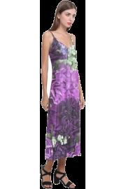 V-Neck Open Fork Long Dress - Catwalk - $34.99