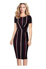 VFSHOW Womens Elegant Ruched Crisscross Work Office Business Sheath Dress - My look - $29.99