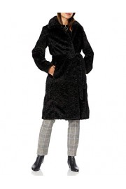 Vince Camuto Women's Chic and Warm Faux Belted Long Coat - My时装实拍 - $88.70  ~ ¥594.32
