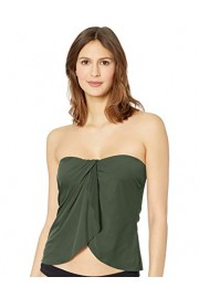 Vince Camuto Women's Draped Bandini Top Swimsuit with Removable Straps - Moj look - $24.99  ~ 21.46€
