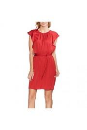 Vince Camuto Women's Flutter Short Sleeve Belted Rumple Keyhole Dress - Moj look - $35.99  ~ 30.91€