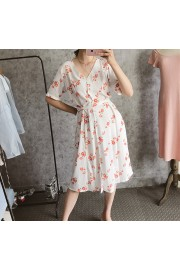 Vintage Chiffon Floral Front Breasted Sh - Moj look - $27.99  ~ 24.04€