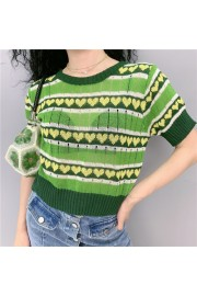 Vintage Ice Short Sleeve Loose Avocado S - My look - $26.99