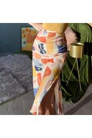 Vintage Morandi oil painting satin skirt - Mi look - $27.99  ~ 24.04€