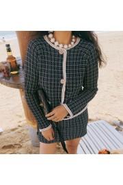 Vintage Tweed Jacket Tops High Waist Ski - My look - $35.99
