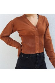 Vintage V-neck thread single-breasted wa - Moj look - $29.99  ~ 190,51kn