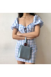 Vintage chest bow square collar puff sle - My look - $27.99