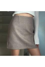 Vintage high waist woolen plaid A-line s - O meu olhar - $25.99  ~ 22.32€