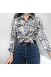 Vintage loose snake print shirt - Myファッションスナップ - $25.99  ~ ¥2,925