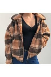 Vintage woolen plaid lambskin high waist - Myファッションスナップ - $45.99  ~ ¥5,176
