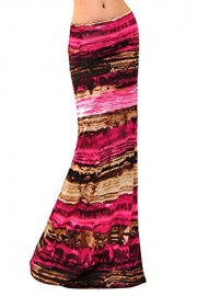 Vivicastle Women's USA Colorful Printed Fold Over Waist Long Maxi Skirt - My look - $9.95