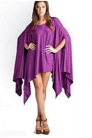 Vivicastle Women's USA Loose Bat Wing Dolman Poncho Tunic Dress Top - Mi look - $19.95  ~ 17.13€