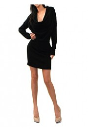 Vivicastle Women's USA Soft Knit Draped Cowl Necked Sweater Dress - My look - $9.95