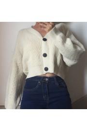 V-neck large button loose wild high wais - Il mio sguardo - $35.99  ~ 30.91€