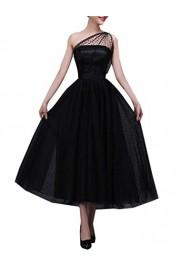 WDING 1950's Dresses for Women Ankle Length One Shoulder Formal Party Dress - O meu olhar - $169.00  ~ 145.15€