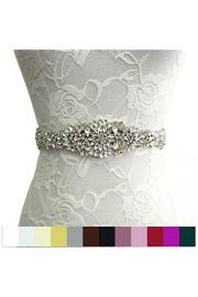 WDING Bridal Rhinestone Wedding Sash Belt With Ribbon for Wedding Party Prom Evening Dresses - O meu olhar - $12.90  ~ 11.08€