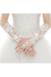 WDING Long Fingerless Rhinestone Beaded Lace Bridal Gloves for Formal Wedding Prom Party - O meu olhar - $7.99  ~ 6.86€