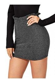 WDIRARA Women's High Waist Ruffle Trim Above Knee Mini Workwear Short Skirt - My look - $12.99