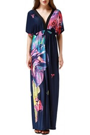 Wantdo Women' Beach Dress Wrap Maxi Dress Boho Printed Plus Size - My look - $19.97