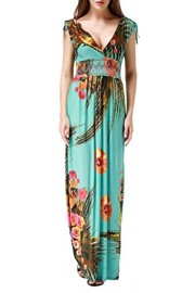 Wantdo Women's Beach Dress Bohemian Maxi Dress Plus Size - My look - $19.97